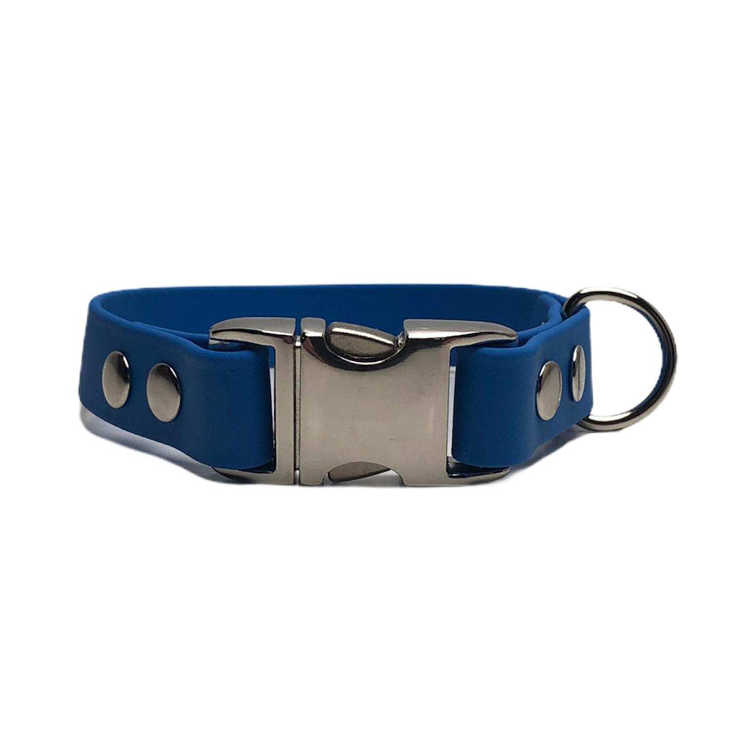 halsband alumax 19mm blauw zilver