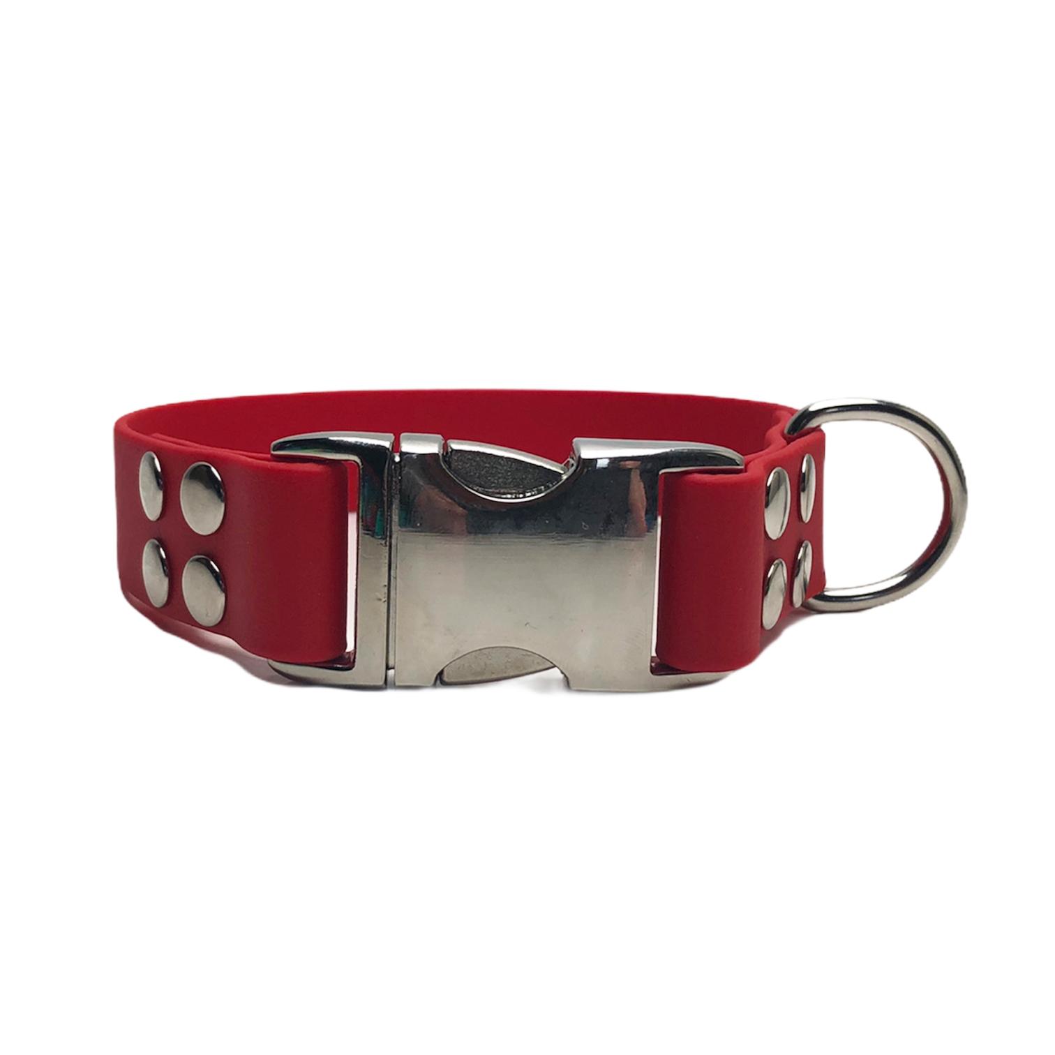 halsband alumax 25mm rood zilver