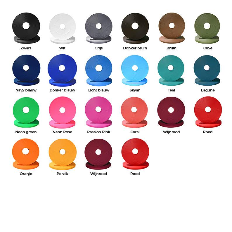 Kleuren Biothane 9mm